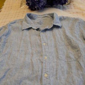 J. Crew 100% Irish linen button down shirt SIZE XL
